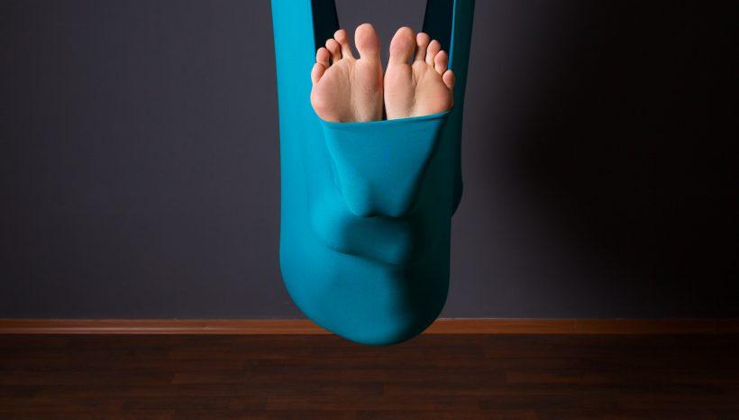 Klangschalenmeditation im Yoga-Tuch
